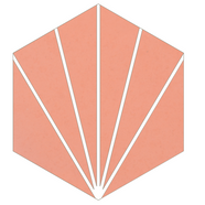Mosaico de pasta Hexagonal Puntas