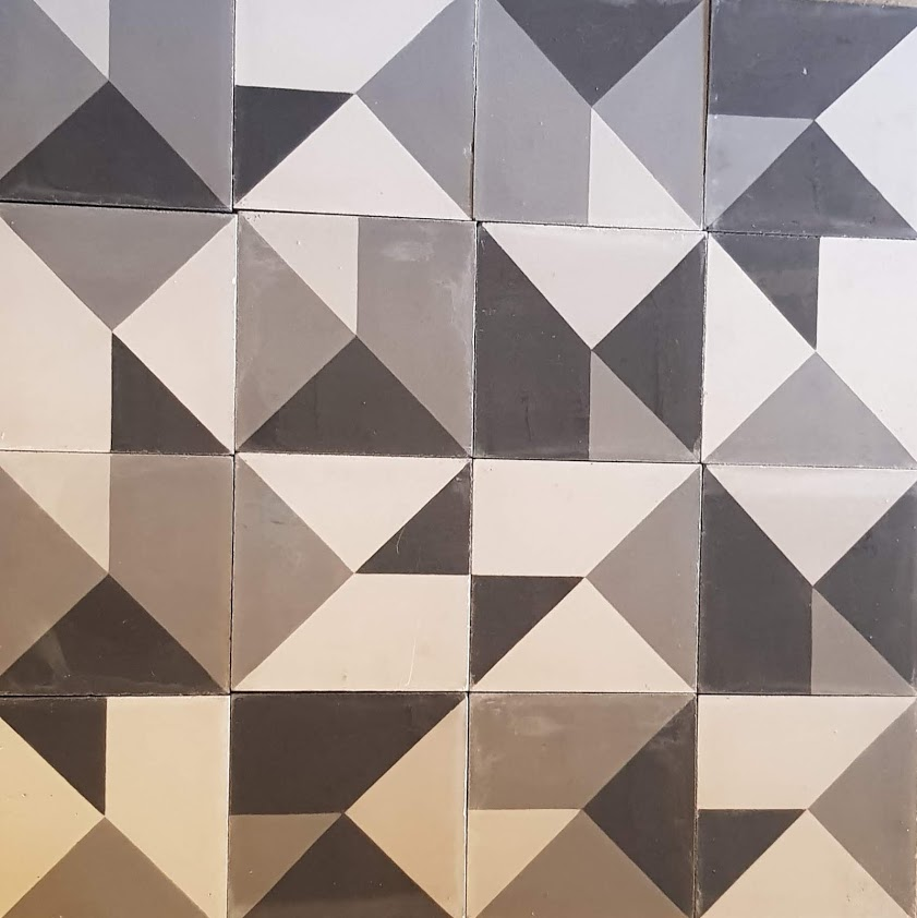 Mosaico de pasta modelo tetris