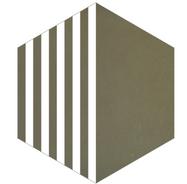 Mosaico de pasta Hexagonal Líneas