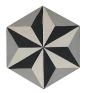 Mosaico de pasta Hexagonal Estrella