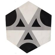 Mosaico de pasta Hexagonal Reliquias