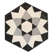 Mosaico de pasta Hexagonal Mandala