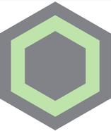 Mosaico de pasta Hexagonal  Panal