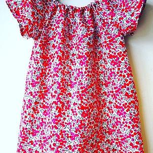 robe liberty cousu main france provence