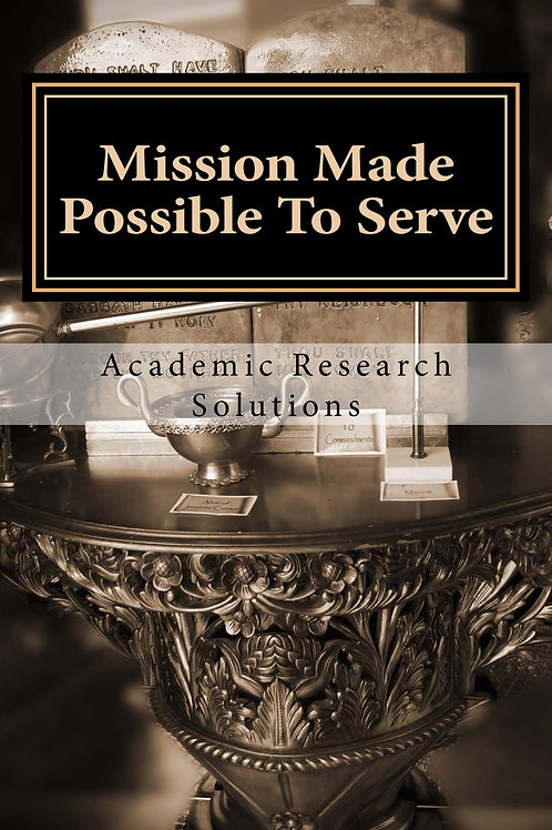 Mission Made Possible to Serve - Spiritual Development Journal