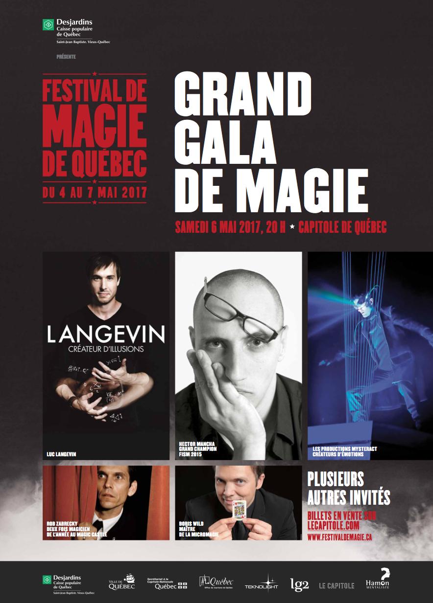 Festival de Magie de Québec 2017 poster.
