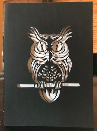 Carte de souhaits hibou