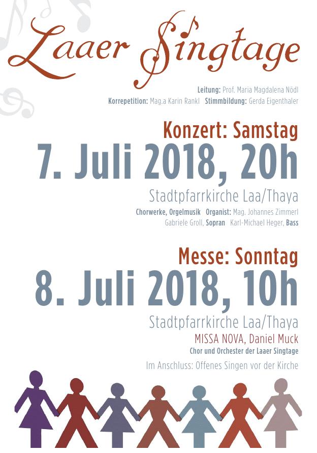 Plakat LaaerSingtage