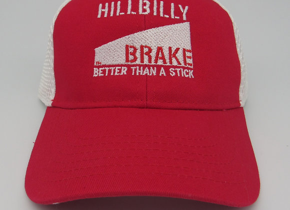 Hillbilly Brake Cotton Twill / Sandwich Mesh Hat - Red/White