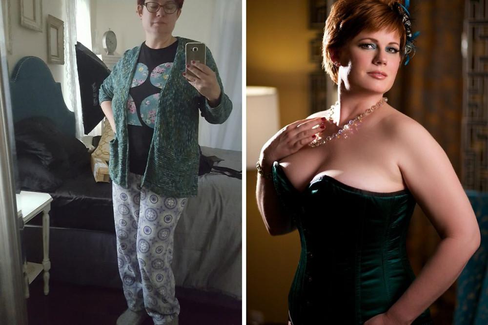 Lynn Clark looking frumpy vs looking sexy