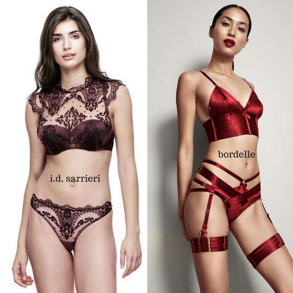 Lingerie from i.d. sarrieri and atelier bordelle
