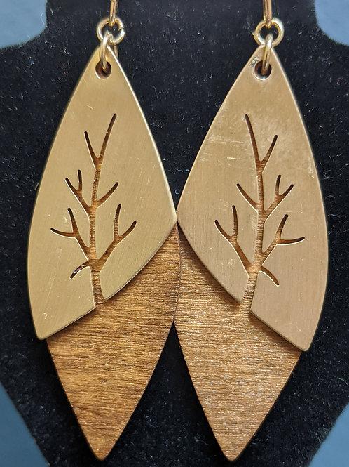 Revealing Wood Earrings