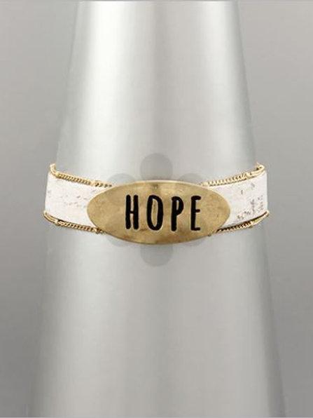 Cork Hope Bracelet