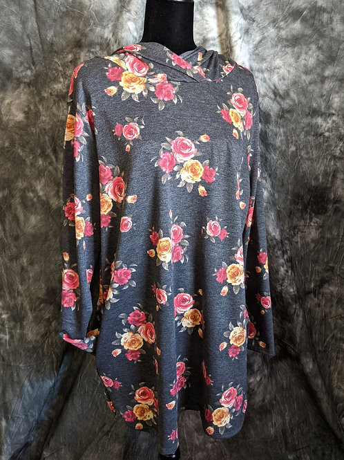 Floral Hooded Top
