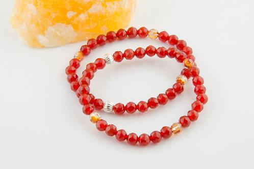 Carnelian Bracelet - Sacral Chakra