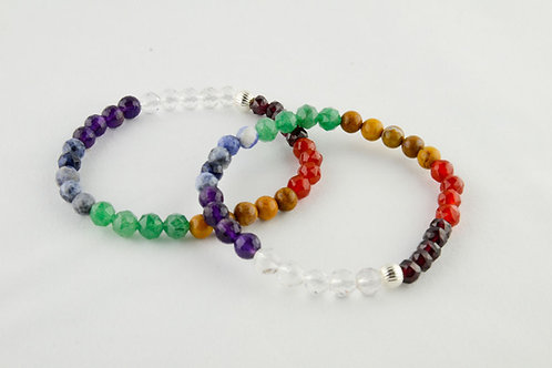 Seven Color Chakra Bracelet