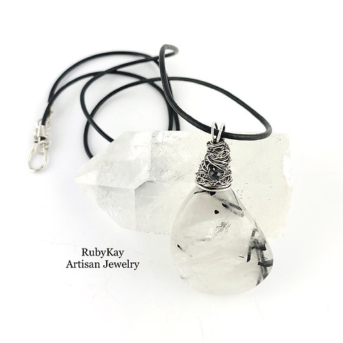 Tourmalined Quartz Necklace