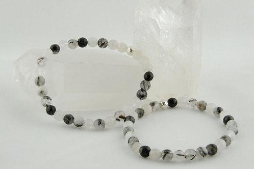 Tourmalined Quartz Bracelet