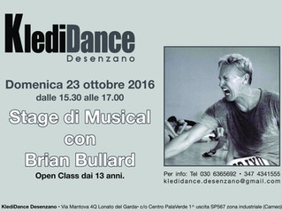 Stage di Musical con Brian Bullard