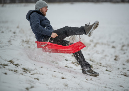 Aktion im Schnee