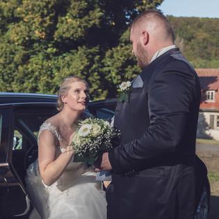 Verliebt, die glückliche Braut