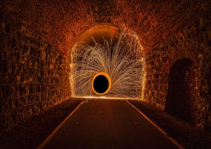 Stahlwolle im Tunnel