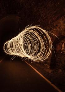 Lightpainting im Tunnel