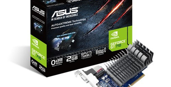 ASUS GT710, 2GB DDR3, PCIe, VGA, DVI, HDMI, 954MHz Clock, Silent, Low Profile