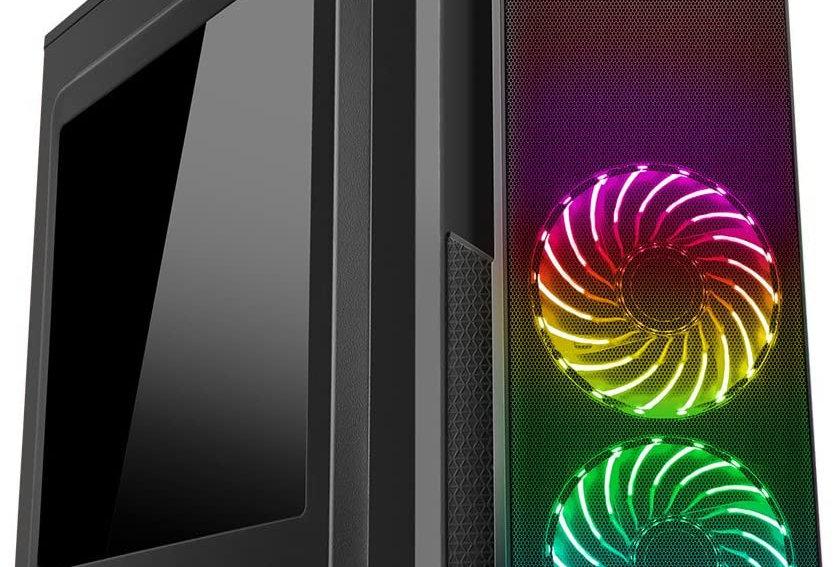 CiT Prism Black RGB Light Gaming PC i3 i5 i7 16GB RAM HDD SSD GT1030 Windows 10