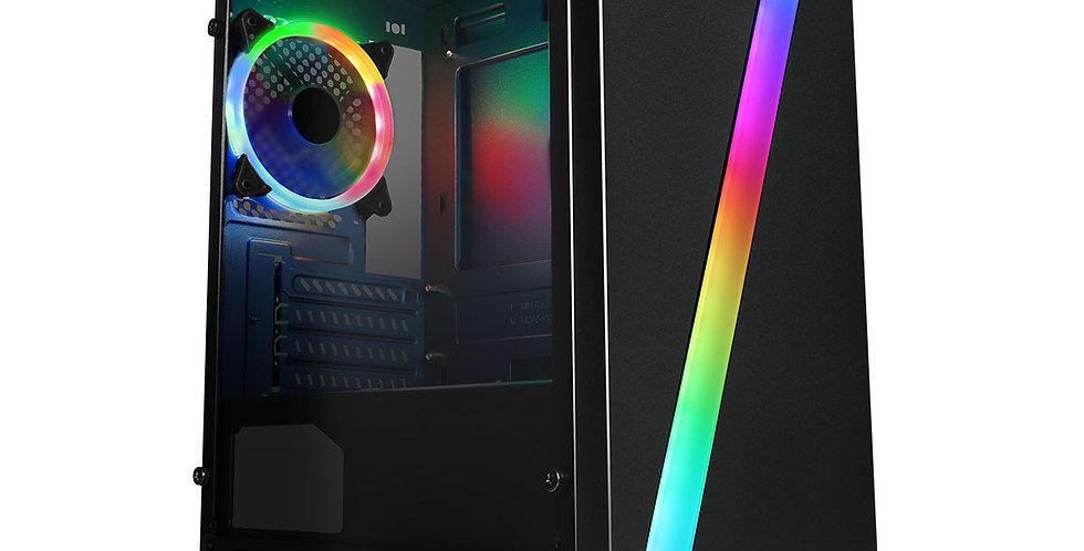 CiT Seven Black RGB Light Gaming PC i3 i5 i7 16GB RAM HDD SSD GT1030 Windows 10