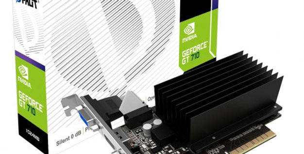 Palit NVIDIA GeForce GT 710 Silent Edition 2 GB DDR3 PCI-E 2.0 Graphics Card