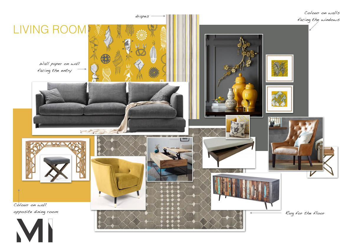 Matejka interiors  Mood board for Interior styling in Melbourne with modern abstract art