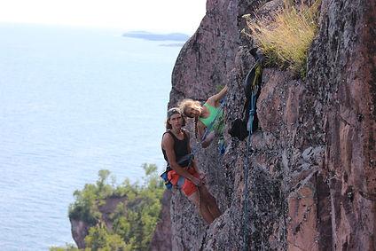 Climbing at Palisade Head