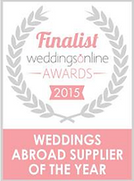 Weddings abroad supplier of the year