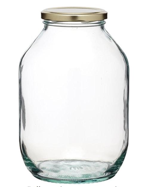 Bath Bomb Glass Storage jar