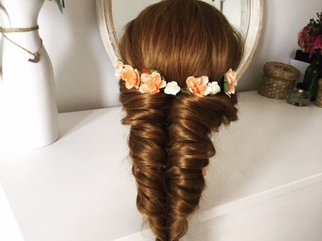 Easy Boho Hairstyle using Flowers | Cordina Hair