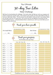 water challenge printable
