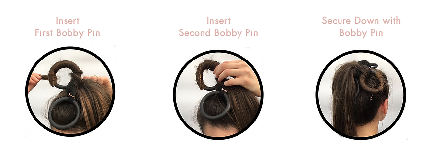 How to use the Flower Curl, bobby pins.p