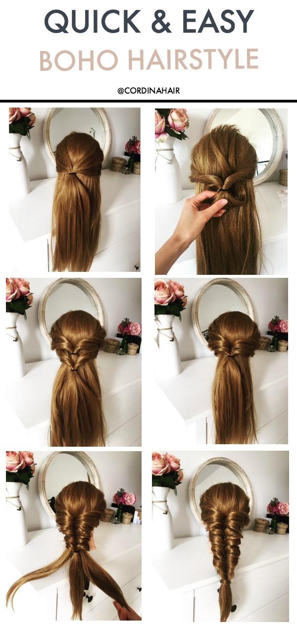 boho style hairstyle