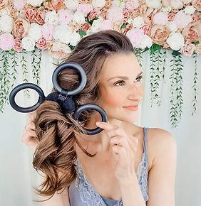 hair curler flower curl