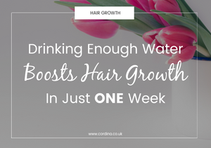drinking water boosts hair growth