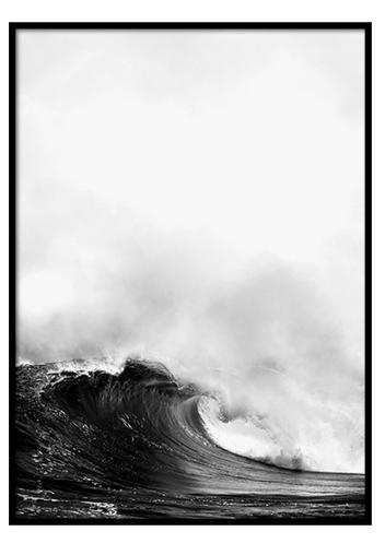 Scandinavian Poster Frame Waves