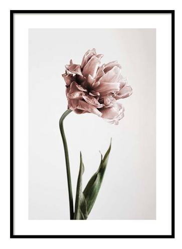 Scandinavian Poster Frame Pink Flower
