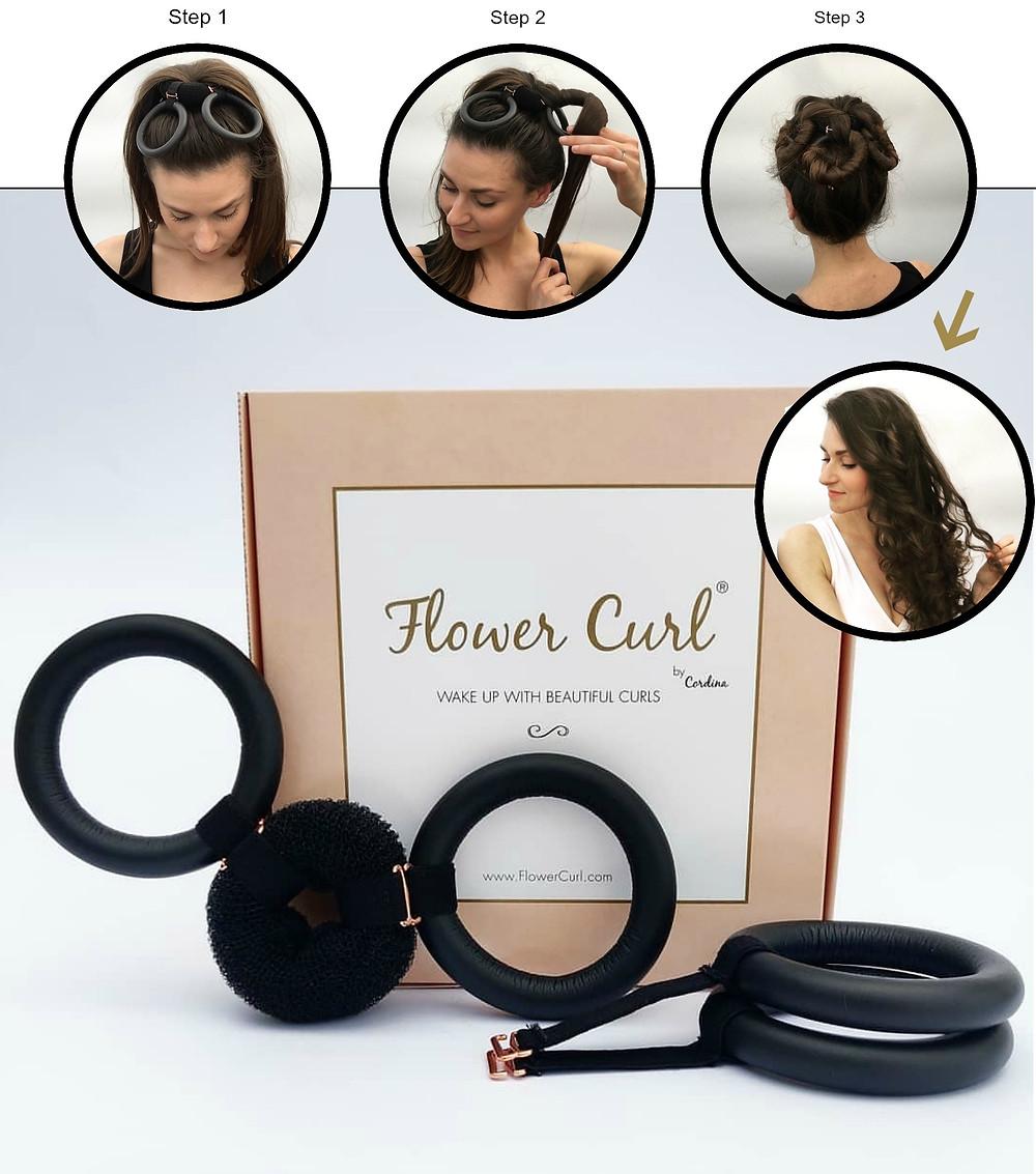 flower curl heatless overnight curls