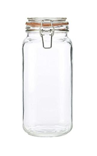 Tall Bath Bomb Glass Storage Jar