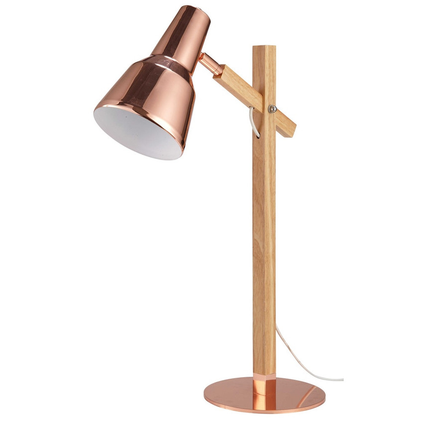 Scandinavian Desk Lamp in Copper