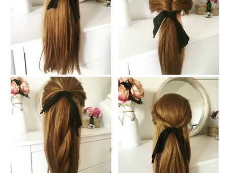 6 Quick and Easy Hairstyles Ideas using Hair Bows & Hair Ribbons