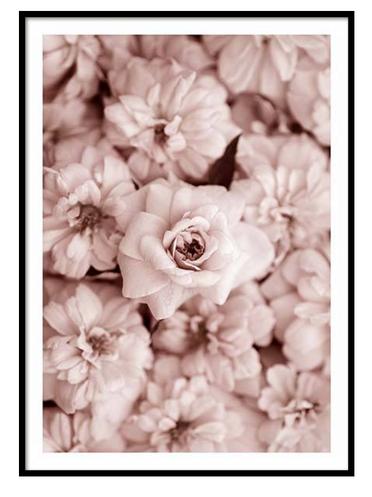 Scandinavian poster frame flowers