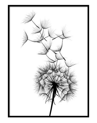 Scandinavian Poster Frame Flower
