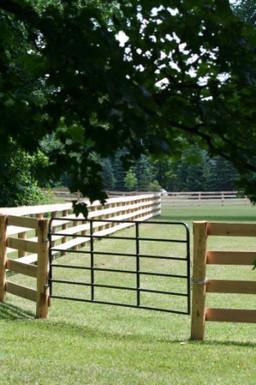 4 Board Oak with Custom Steel Gates